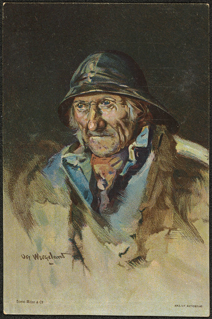 Fisker malt av Oscar Wergeland