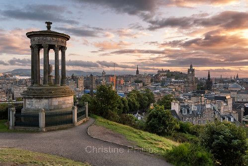 yellow edinburg calton hill sunset sunrise edinburgh frinch dramatic sky summer europe brexit sucks christinephillips explore yolo view vista panorama stunning shot christine phillips