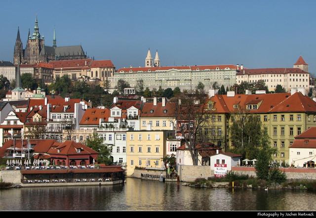 Mala Strana seen from across the Vltava, Prague, Czech Republic