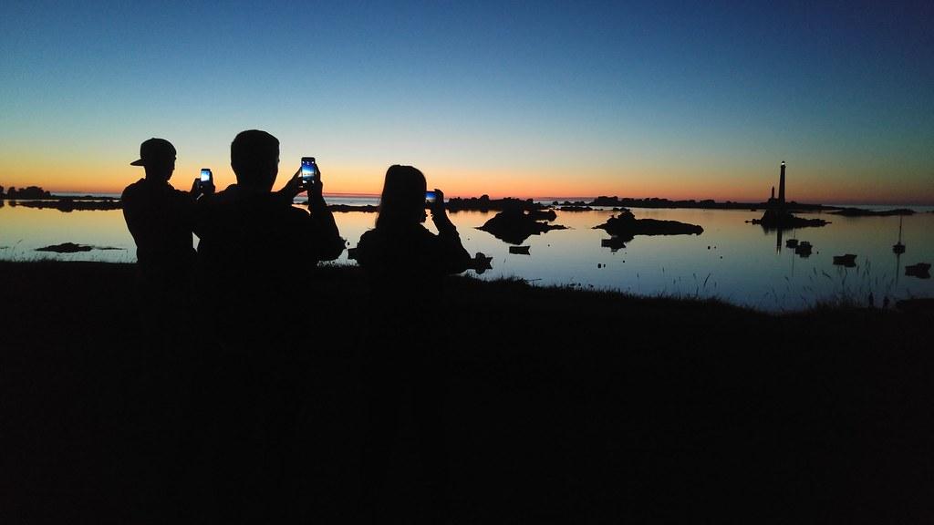Coucher de soleil sur l'île Vierge
