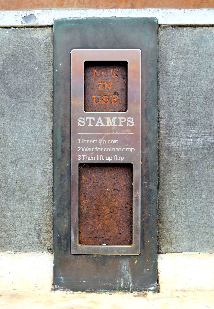 Stamps Abandoned Stamp Vending Machine Old Post Office Y