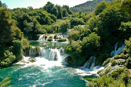 wasserfall wasser krka nationalpark kroatien skradin landscape