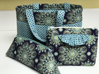 Mother Daughter bag and Straight Stitch Society clutch