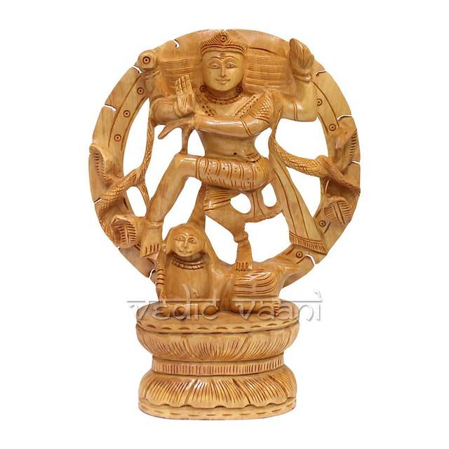 Lord Nataraja Wooden Statue   VedicVaani.com