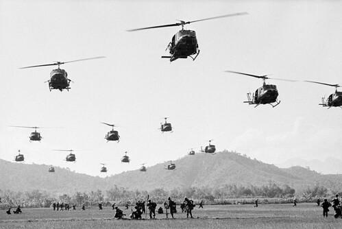 Vietnam War 1966 - US helicopters land under heavy sniper fire near Bong Son | by manhhai
