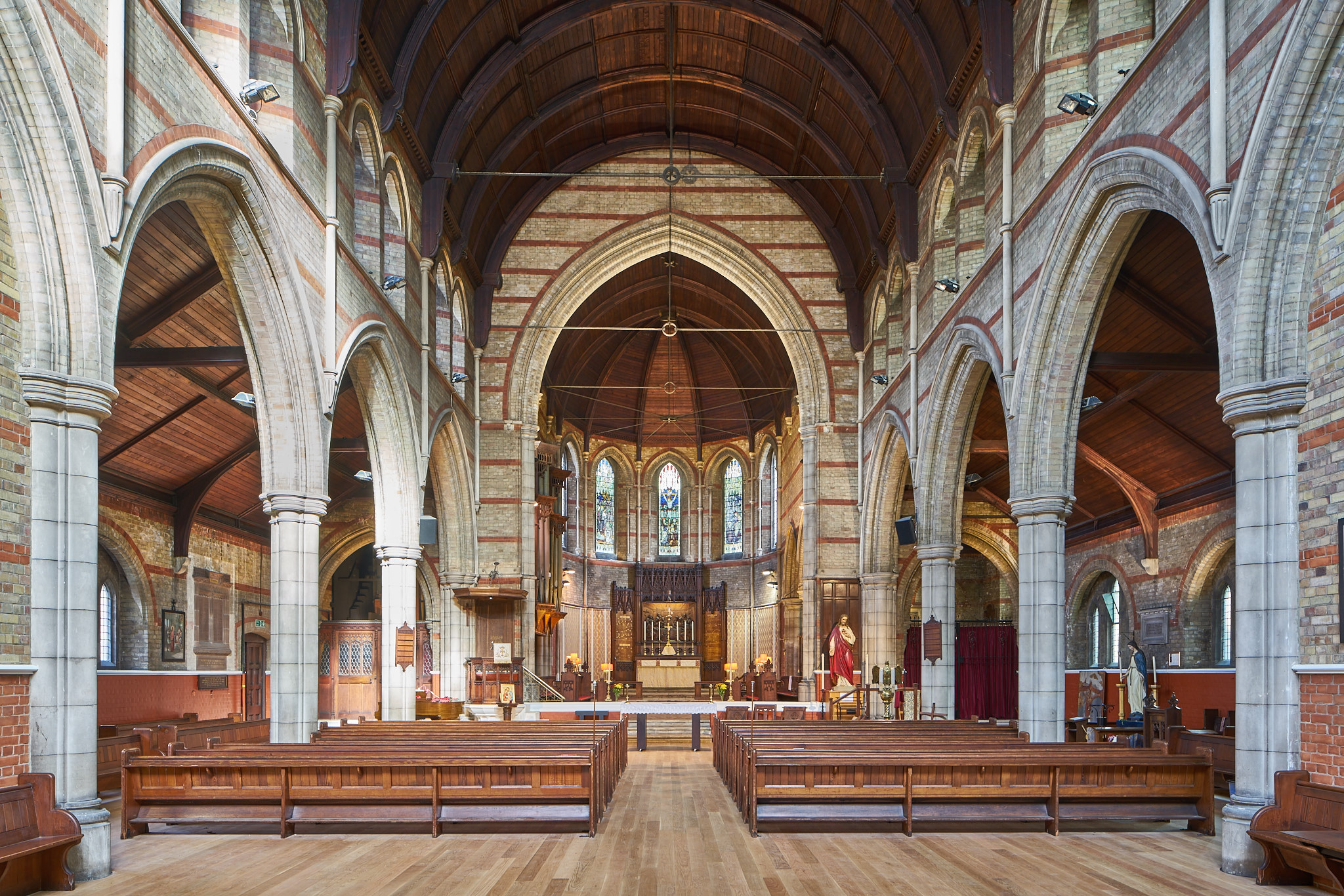 Presidents' Award for re-ordering and alterations: Emmanuel Church, West Hampstead (Pews reinstated to nave over new oak flooring)