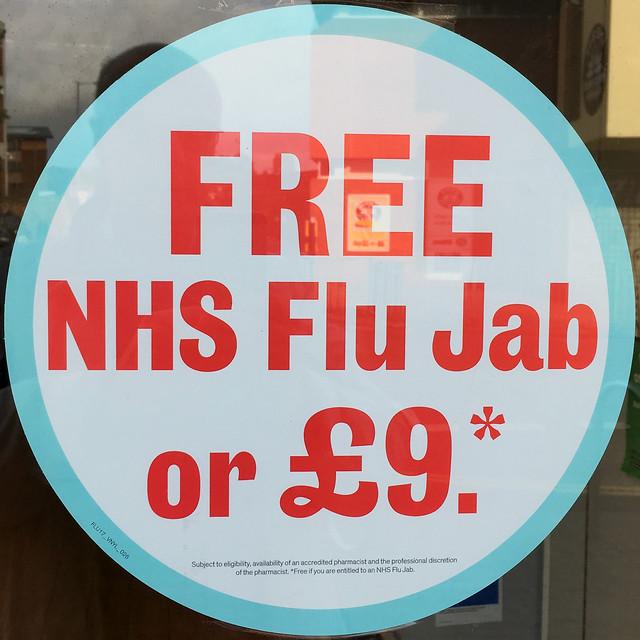 FREE NHS Flu Jab or £9