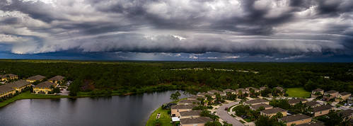 mavicpro panoramic shelfcloud nature thunderstorm outdoors aerial panorama sky clouds florida venice unitedstates us