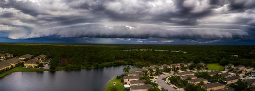 mavicpro panoramic shelfcloud nature thunderstorm outdoors aerial panorama sky clouds florida venice unitedstates us