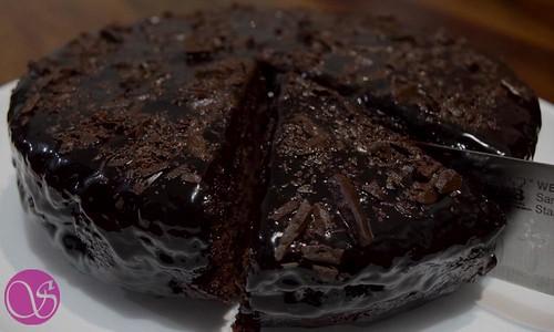 Sliced cake