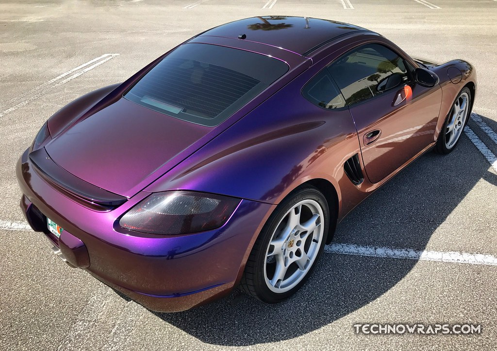 Color shifting vinyl car wrap in Orlando by TechnoSigns | Flickr
