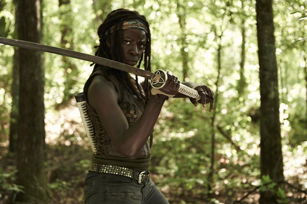 Danai Gurira como Michonne | The Walking Dead 4° Temporada ...