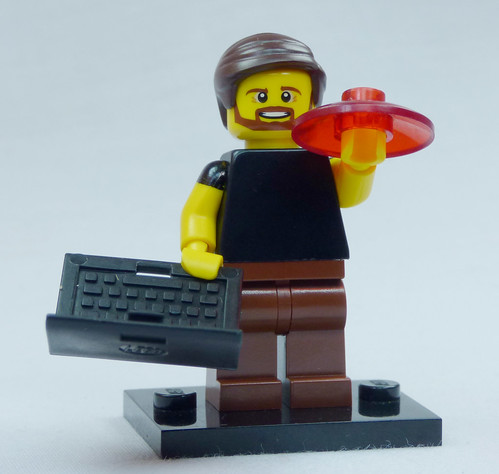 Brick Yourself Custom Lego Figure Happy Uni Student with Laptop and Frisbee | by BrickManDan