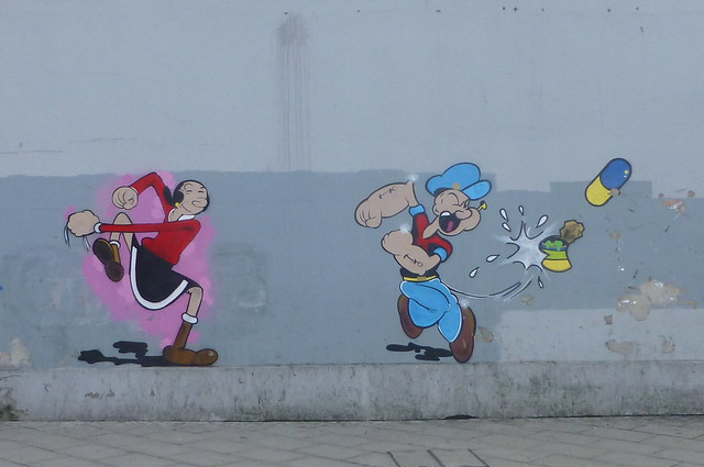 Olive and Popeye in West Croydon