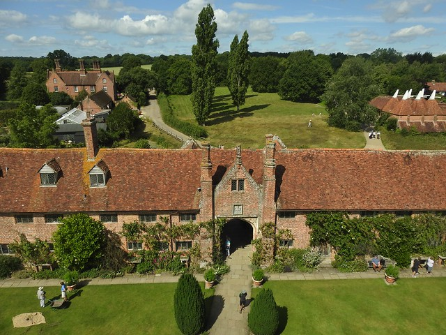 View of Sissinghurst Castle Estate from the Tower in Kent, UK - August 2017