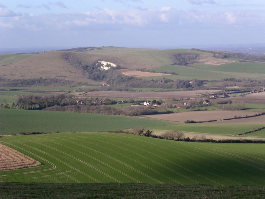 From second half of Lewes via West Firle, looking back to first half