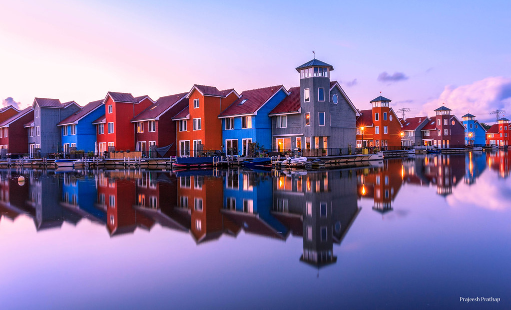 The Colorful Houses Of Groningen Reitdiephaven A Colorfu Flickr