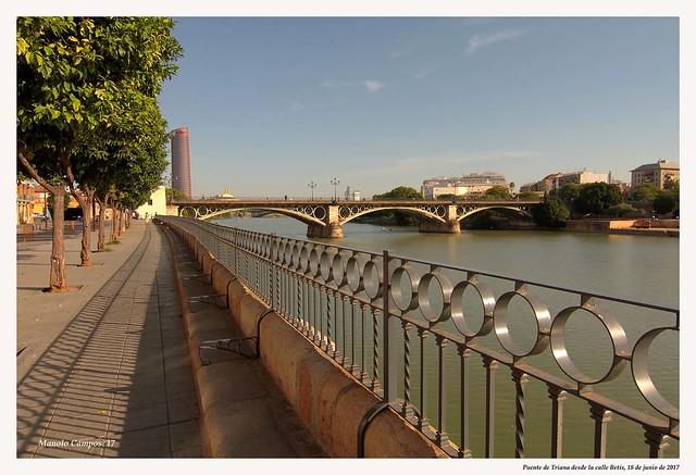 Puente de Triana desde calle Betis