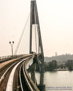 About to Cross the Fraser River on the Skybridge   by AvgeekJoe