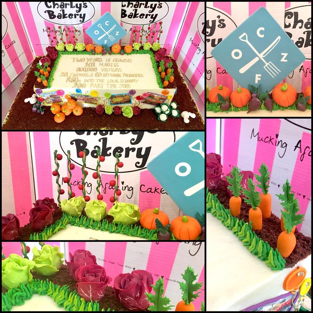 Fabulous Ozcf Organic Market Veggie Garden Birthday Cake Charlys Bakery Funny Birthday Cards Online Alyptdamsfinfo
