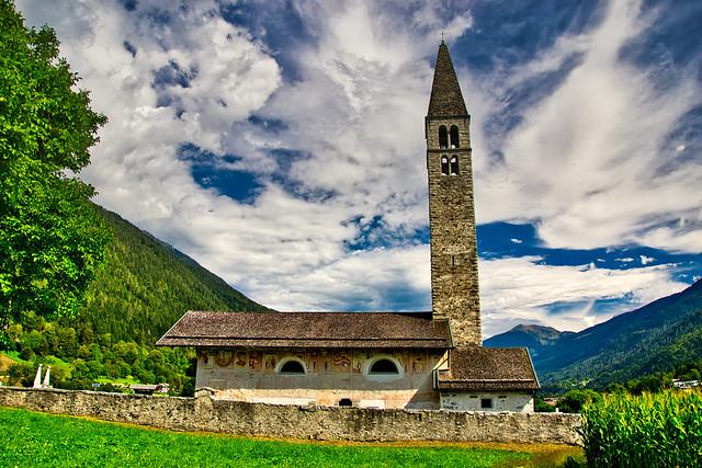 Chiesa di Sant'Antonio Abate in the Val Rendena, Italian Alps