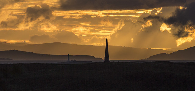 Sunset over Kerrera, Mulll and Lismore from Oban