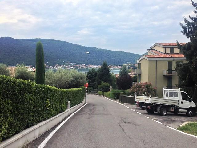 Street in Sarnico's upper suburbs, Italy