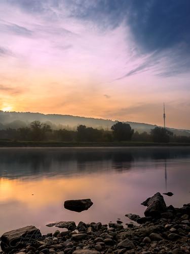 germany fog sunrise dresden elbufer elbe sachsen de formatthitech longexposure