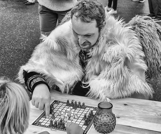A Viking playing Hnefatafl | by f4niko