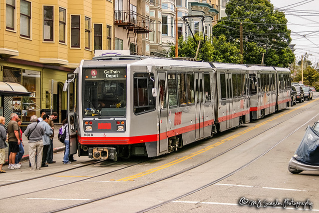 MUNI 1408B | Breda Light Rail Vehicle | MUNI N Line