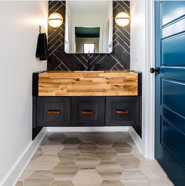 Our Leather Cabinet Handles Style An Amazing Restroom From ...