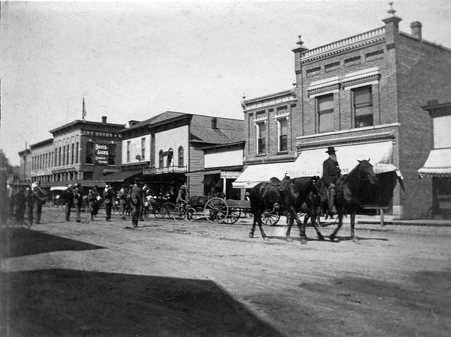 1897 or so - parade on W Plymouth Street