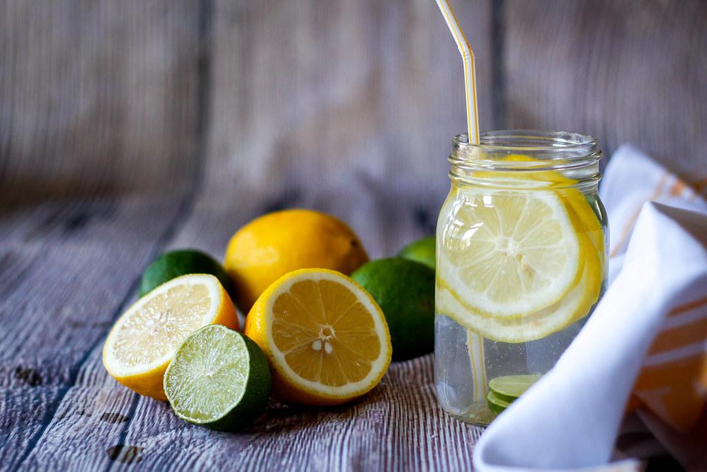 citrus water in a jar