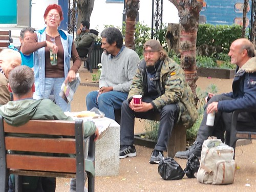 Homeless people having a jar | by gerrypopplestone