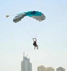 Teal & Gray tandem @SkyDive Dubai