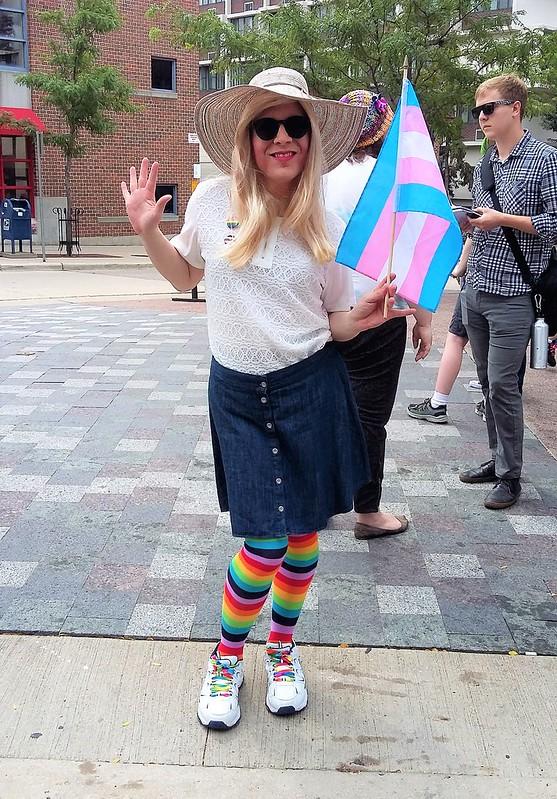 Pride parade outfit (w/ flag)