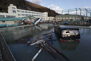 Honshu tsunami aftermath