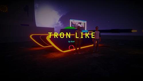 TRON LIKE ExpScreen