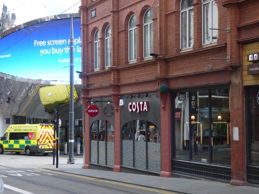 Costa Coffee Guildhall Building Stephenson Street Bir