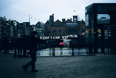 Today I love you - Amsterdam light festival