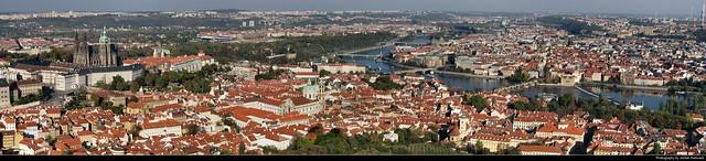 Panorama from Petřínská Rozhledna, Prague, Czech Republic