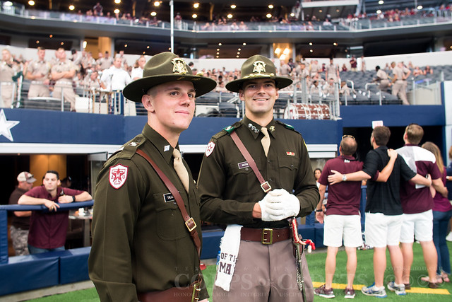 Texas A&M Corps of Cadets Gameday Arkansas 2017