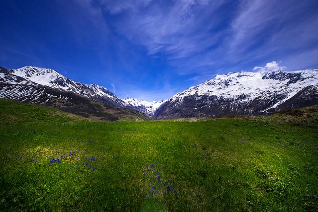 Mountain view to Oberalppass - Uri - Switzerland
