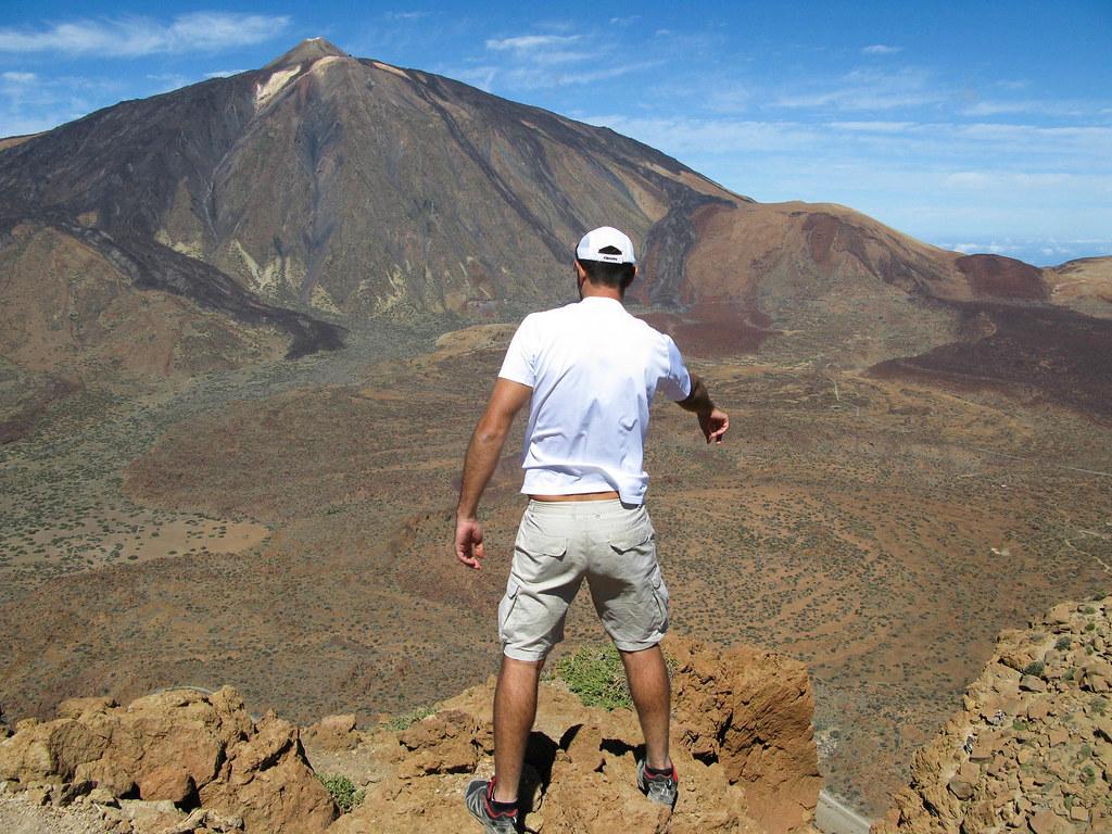 Vista de El Teide desde Montaña Guajara