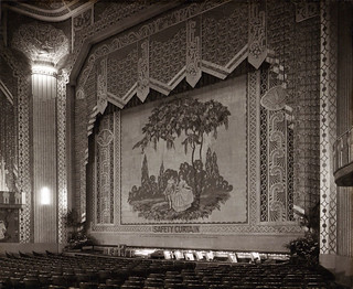 Safety curtain at the Paramount Theatre, Newcastle