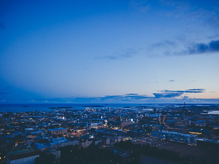 Blue hour: Helsinki downtown | by miemo