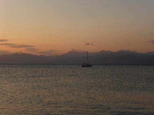sea sky mountains boat sunset landscapes aigioachaiagreece 7dwf
