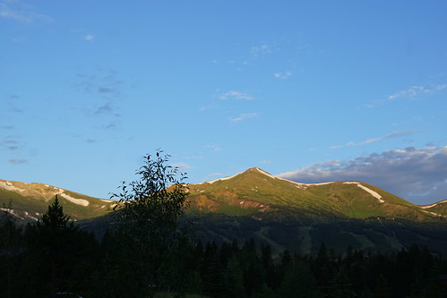 breckenridge colorado sunrise ridge ridgeline mountain mountains resort sky clouds cielo himmel amanecer