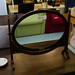 Ornate mahogany dresser mirror E110