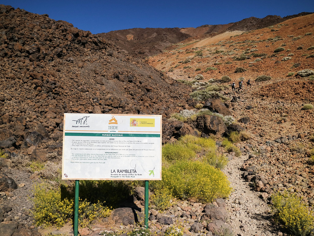Transporte público para subir El Teide a pie